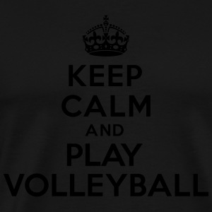 Keep calm and play volleyball Sweat-shirts - T-shirt Premium Homme