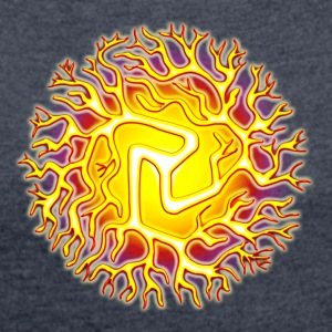 Chi Ball, Reiki, Chakra, Energy, Tai Chi Hoodies & - Women's T-shirt with rolled up sleeves