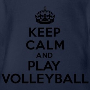 Keep calm and play volleyball Tee shirts - Body bébé bio manches courtes