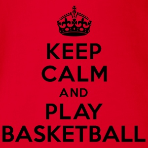 Keep calm play Basketball Tee shirts - Body bébé bio manches courtes