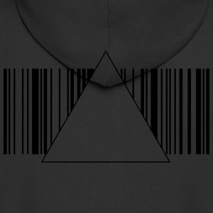 Barcode hipster triangle 2 c. Shirts - Men's Premium Hooded Jacket