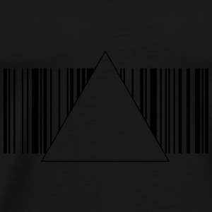 Barcode hipster triangle 2 c. Bags  - Men's Premium T-Shirt