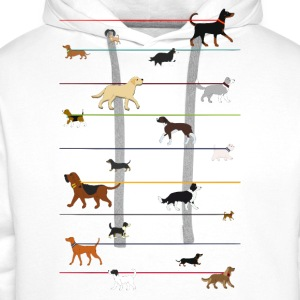 Dogs on a leash 1 Tee shirts - Sweat-shirt à capuche Premium pour hommes