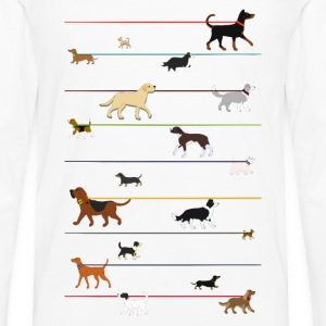Dogs on a leash 1 Tee shirts - T-shirt manches longues Premium Homme