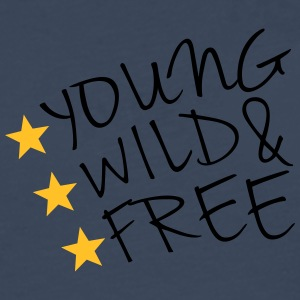 Young Wild And Free T-shirts - Herre premium T-shirt med lange ærmer
