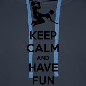Keep Calm And Have Fun T-shirts - Mannen Premium hoodie