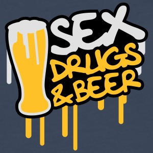 Sex Drugs And Beer Camisetas - Camiseta de manga larga premium hombre