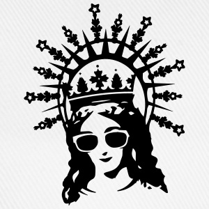 A portrait of the Virgin Mary with cool glasses T-Shirts - Baseball Cap