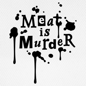 Mens Shirt 'Meat is Murder' W - Baseball Cap