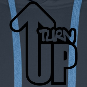 Turn Up Tee shirts - Sweat-shirt à capuche Premium pour hommes