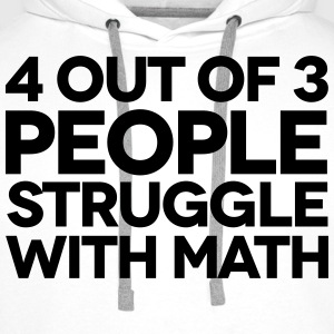 Struggle With Math Skjorter - Premium hettegenser for menn