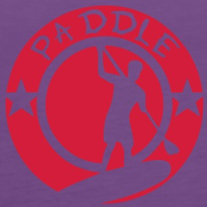 paddle logo tampon board silhouette shad Tee shirts - Débardeur Premium Femme