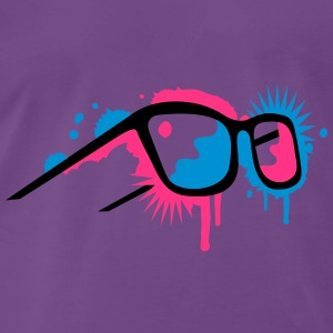 3D glasses in  graffiti style Sweat-shirts - T-shirt Premium Homme