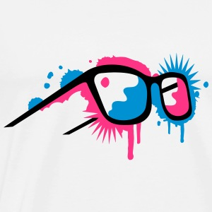 3D glasses in  graffiti style Tee shirts manches longues - T-shirt Premium Homme
