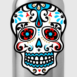 Skull, Mexico, flowers, patterns, skulls, mexican, T-Shirts - Water Bottle