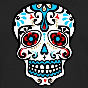 Skull, Mexico, flowers, patterns, skulls, mexican, T-Shirts - Men's Premium Longsleeve Shirt