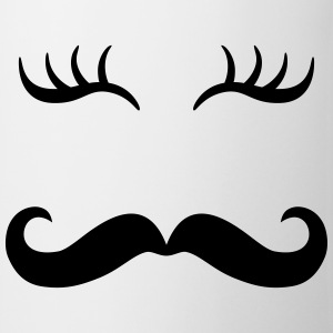 Moustache & Wimpern T-Shirts - Tasse