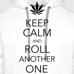 keep calm and roll another one cannabis Tee shirts - Sweat-shirt à capuche Premium pour hommes