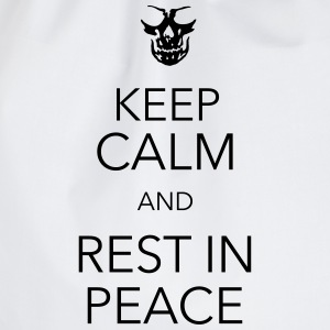 keep calm and rest in peace skull T-shirts - Sportstaske