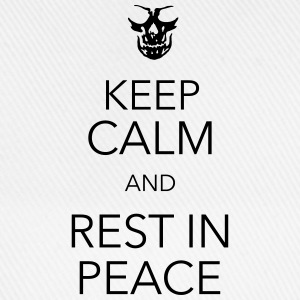 keep calm and rest in peace skull T-shirts - Baseballkasket