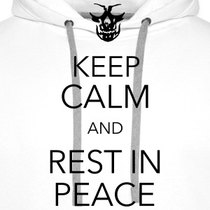 keep calm and rest in peace skull Koszulki - Bluza męska Premium z kapturem