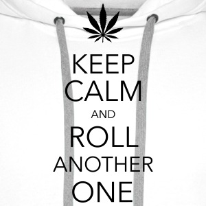 keep calm and roll another one cannabis T-shirts - Premiumluvtröja herr
