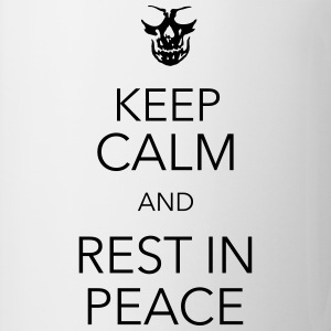 keep calm and rest in peace skull T-shirts - Kop/krus