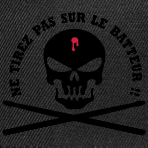 tete de mort batteur shoot Sweat-shirts - Casquette snapback