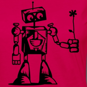 A robot with a flower T-Shirts - Women's Premium Longsleeve Shirt