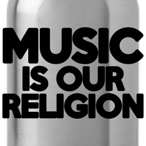 Music Religion  Camisetas - Cantimplora