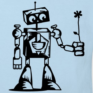 A robot with a flower Hoodies - Kids' Organic T-shirt