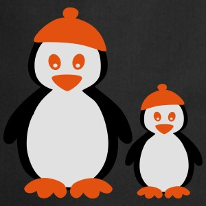 Penguins with Beanie T-shirts - Förkläde