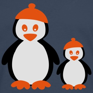 Penguins with Beanie T-shirts - Långärmad premium-T-shirt herr