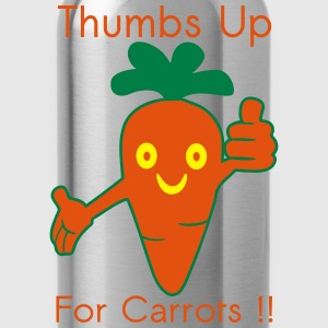 Happy Carrot Thumbs Up T-shirts - Drikkeflaske