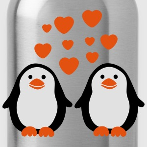 Penguins in Love T-shirts - Drikkeflaske