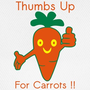 Happy Carrot Thumbs Up Tee shirts - Casquette classique