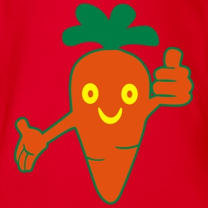 Happy Carrot Shirts - Organic Short-sleeved Baby Bodysuit