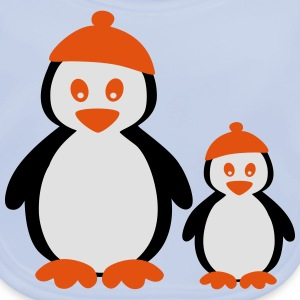 Penguins with Beanie T-shirts - Ekologisk babyhaklapp