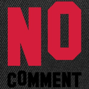 No Comment Camisetas - Gorra Snapback