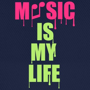 Music Is My Life T-Shirts - Baseballkappe