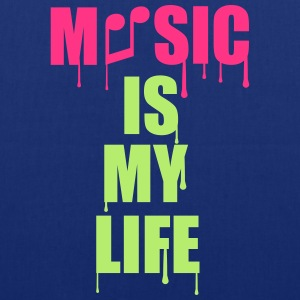 Music Is My Life Magliette - Borsa di stoffa