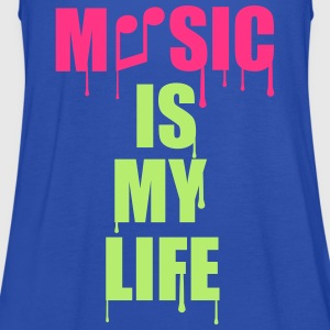 Music Is My Life T-Shirts - Women's Tank Top by Bella