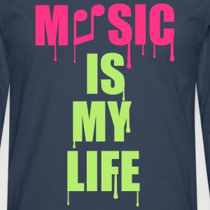 Music Is My Life T-shirts - Mannen Premium shirt met lange mouwen