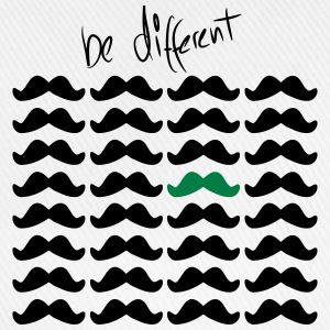 Mustache Moustache be different 2c T-Shirts - Baseballkappe
