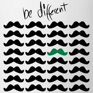Mustache Moustache be different 2c Tee shirts - Tasse