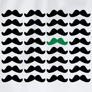 Mustache Moustache Be Different 2c T-Shirts - Drawstring Bag