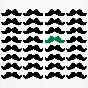 Mustache Moustache Be Different 2c T-Shirts - Men's Premium Longsleeve Shirt