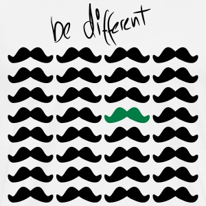 Mustache Moustache be different 2c Sweaters - Mannen Premium T-shirt