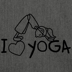I love Yoga  Pullover & Hoodies - Schultertasche aus Recycling-Material