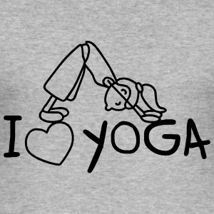 I love Yoga  Pullover & Hoodies - Männer Slim Fit T-Shirt